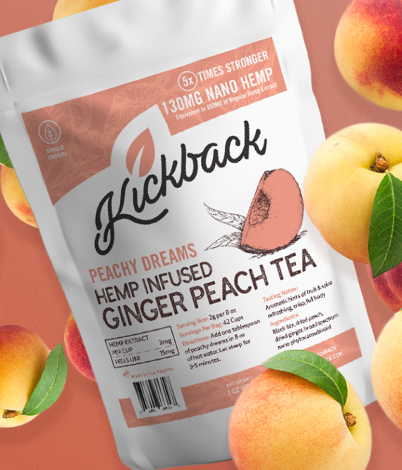 Kickback Hemp Infused Peach Tea