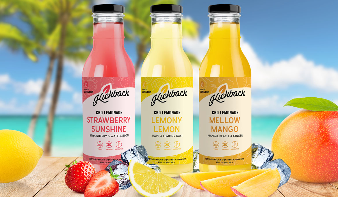 Introducing Kickback's CBD Lemonade Drinks