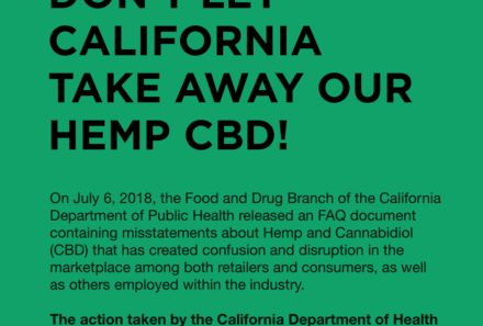 Our Response To California's Attempt To Ban Hemp CBD In California